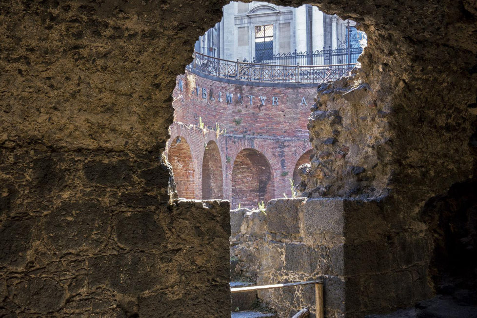 The ancient amphitheater of Catania (photo Giorgio Romeo)