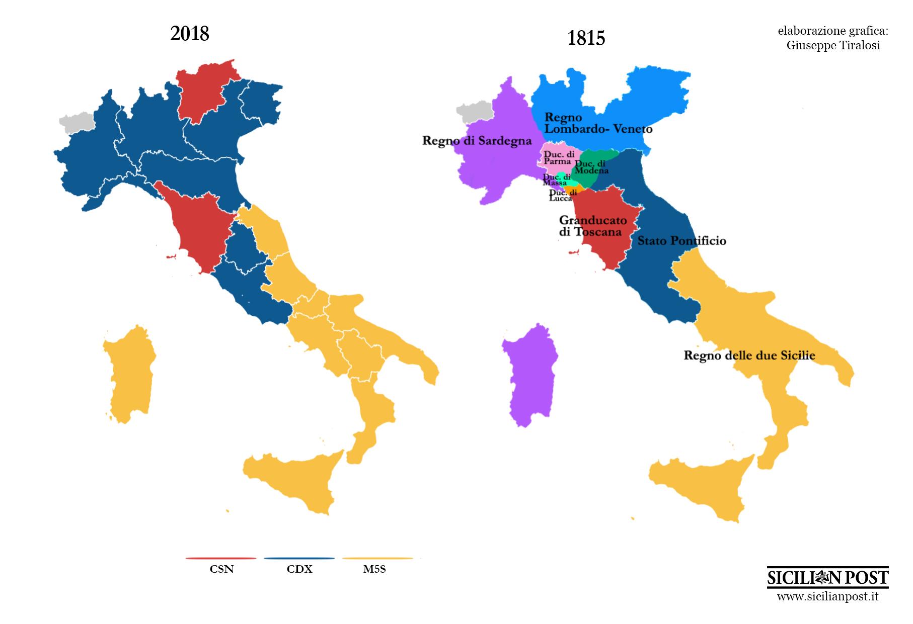 Cartina Dell Italia Nel 1815.Ritorno Al Futuro Parte Quarta L Italia Post Elezioni Come
