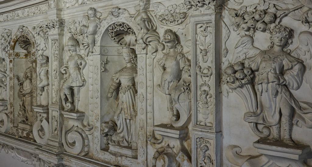 Particolare degli stucchi della Chiesa della Madonna della Catena