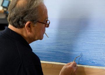 Foto di Gianni Mania dal set di Piero Guccione di Nunzio Massimo Nifosì