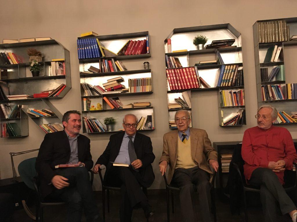 Da sinistra: Rosario Castelli, Francesco Diego Tosto, Tuccio Musumeci, Leo Gullotta.