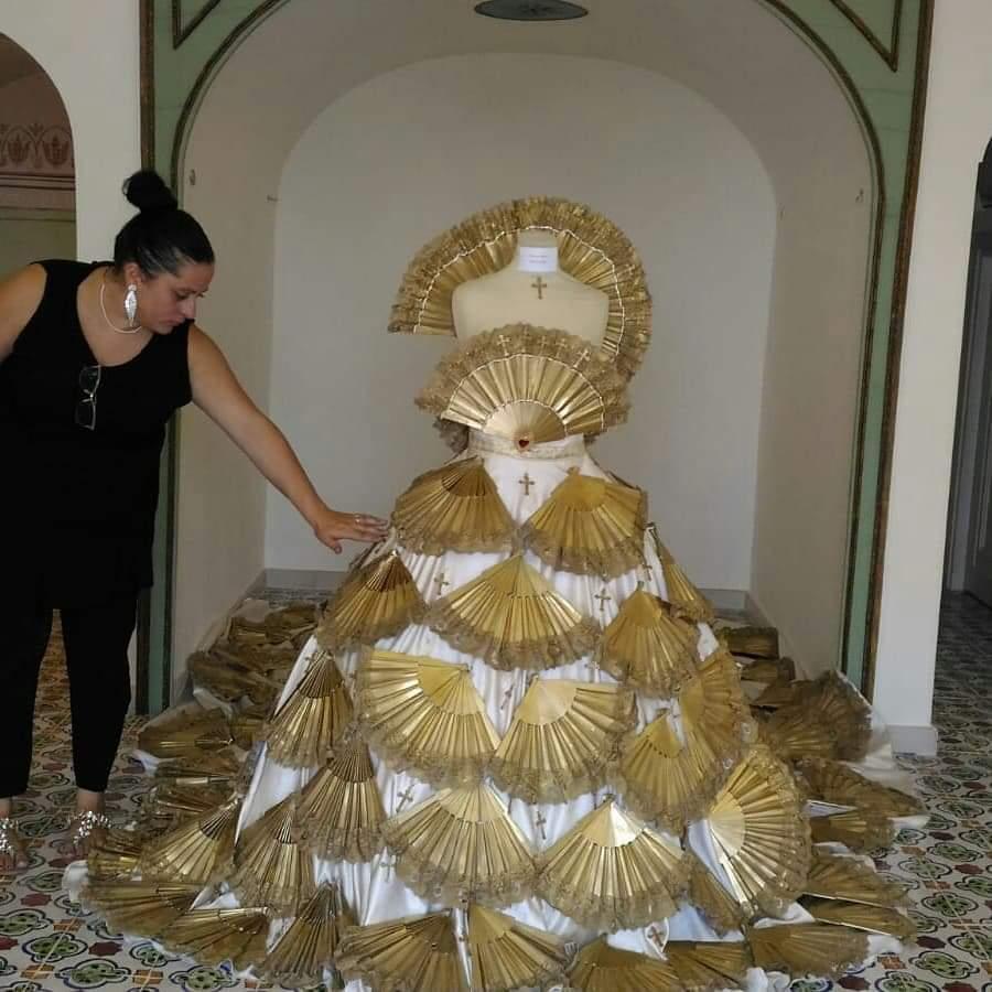 L'abito realizzato da Francesca Riolo