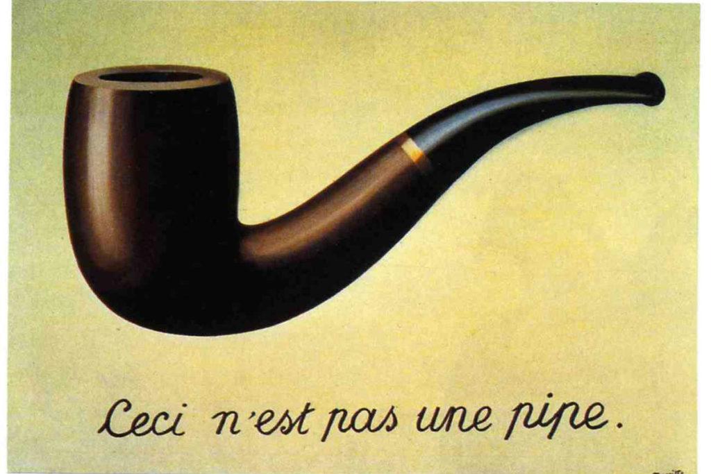 """""""Il tradimento delle immagini"""" di Magritte"""