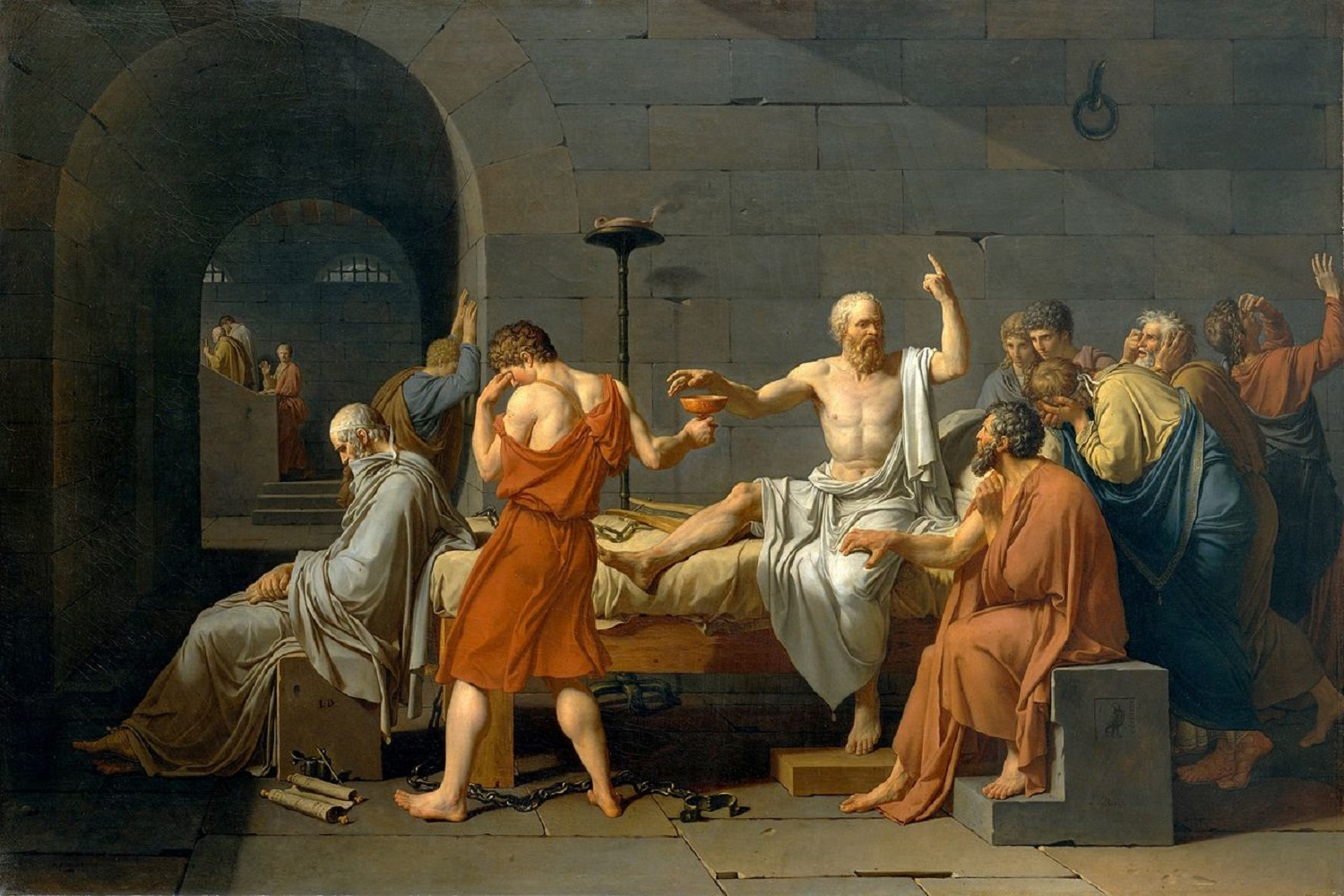 Morte di Socrate - Jacques-Louis David