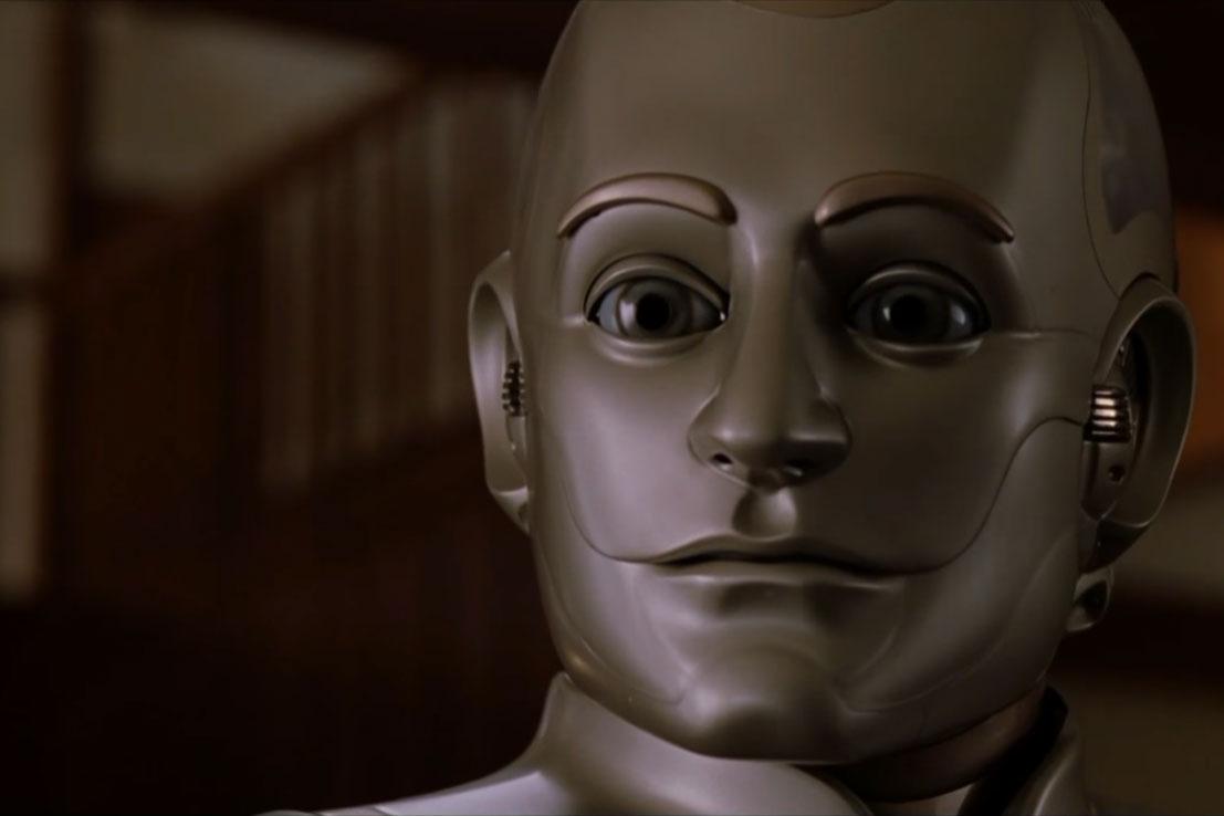 "Uno screenshot dal film ""L'uomo bicentenario""(1999)"