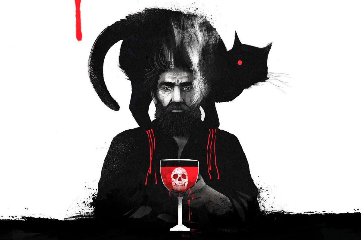 """Un dettaglio della cover di """"The Black Cat"""" di Nino Cammarata (Edizioni NPE)"""