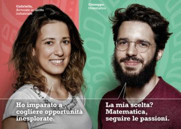 """Due dei testimonial della campagna """"Formiamo i leader di domani"""""""