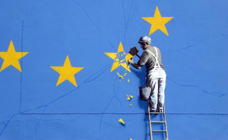 Murale di Bansky dedicato a Brexit