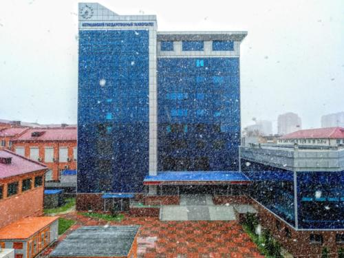 Astrakhan sotto la neve